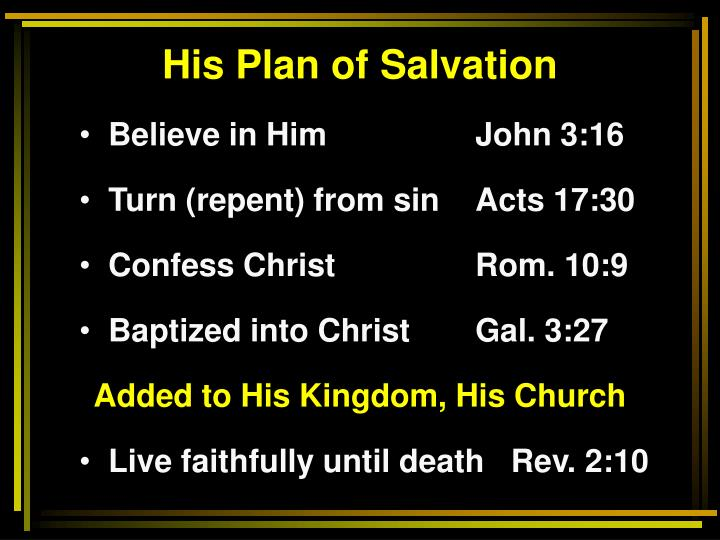 His Plan of Salvation
