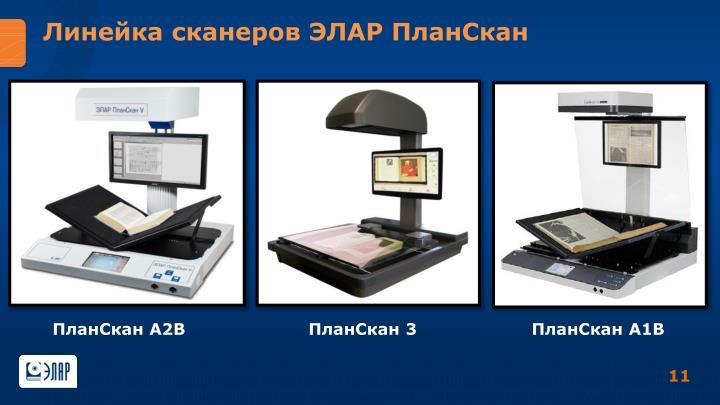 Линейка сканеров ЭЛАР ПланСкан