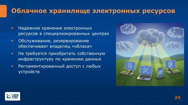 Облачное хранилище электронных ресурсов