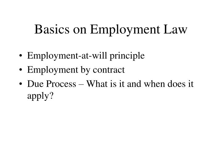 Basics on Employment Law