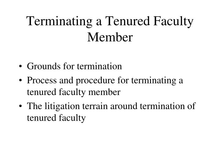 Terminating a Tenured Faculty Member