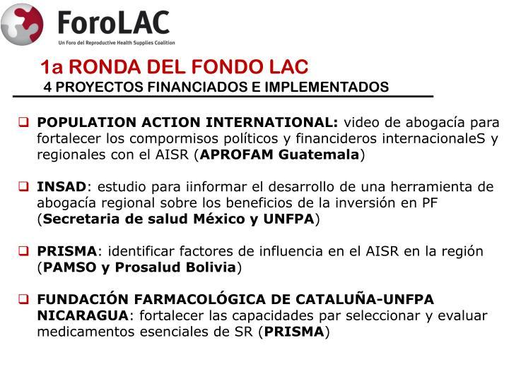 1a RONDA DEL FONDO