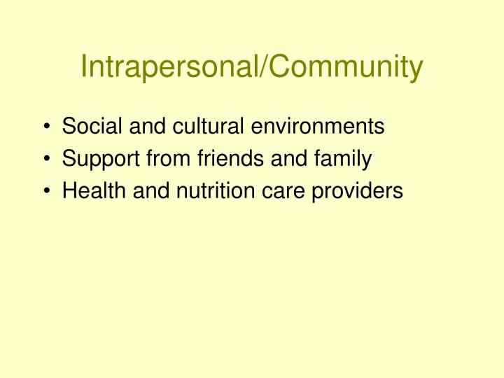 Intrapersonal/Community
