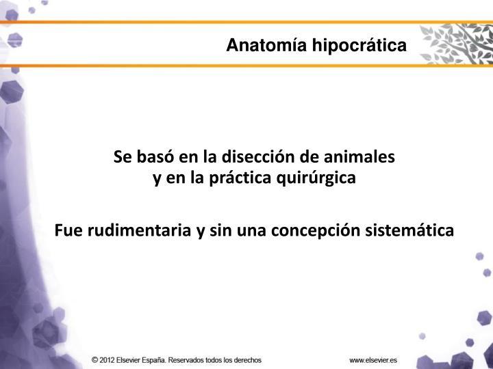 Anatomía hipocrática