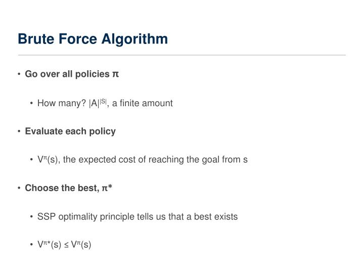 Brute Force Algorithm