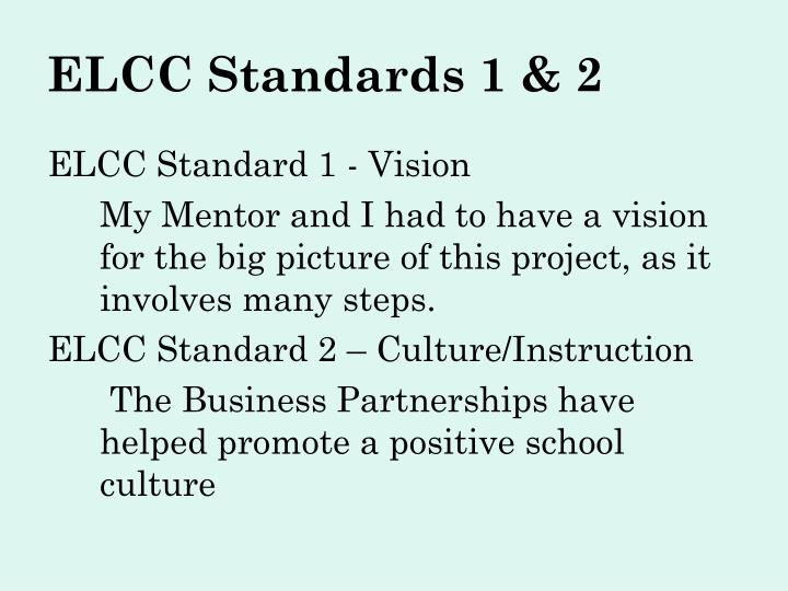 ELCC Standards 1 & 2