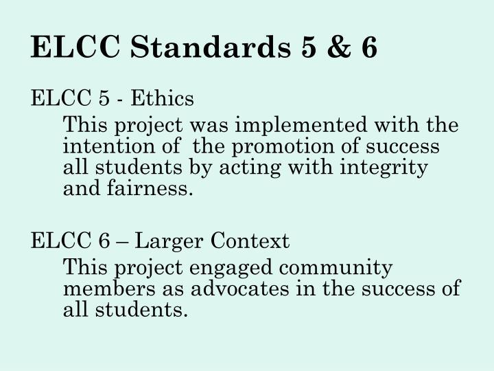 ELCC Standards 5 & 6