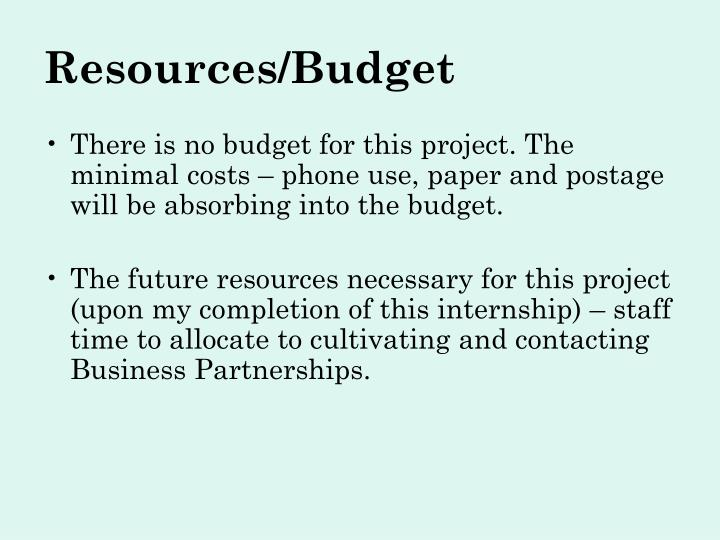 Resources/Budget