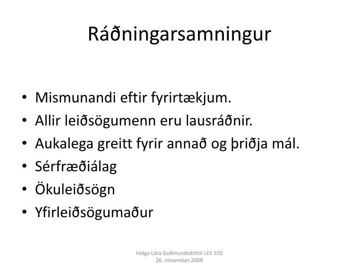 Ráðningarsamningur