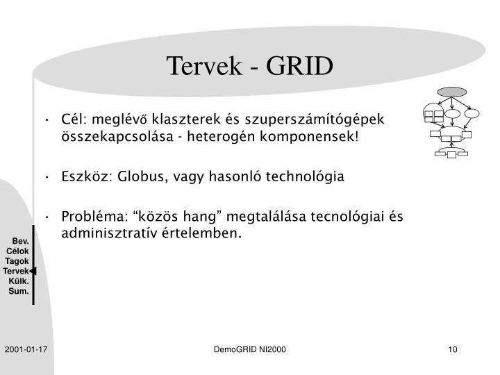 Tervek - GRID