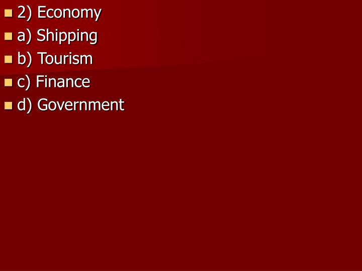 2) Economy