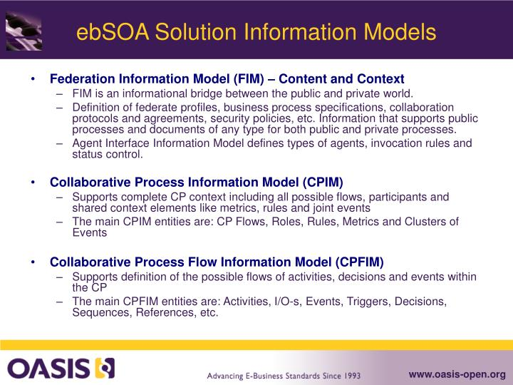ebSOA Solution Information Models