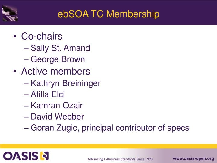Ebsoa tc membership