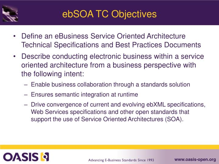 Ebsoa tc objectives