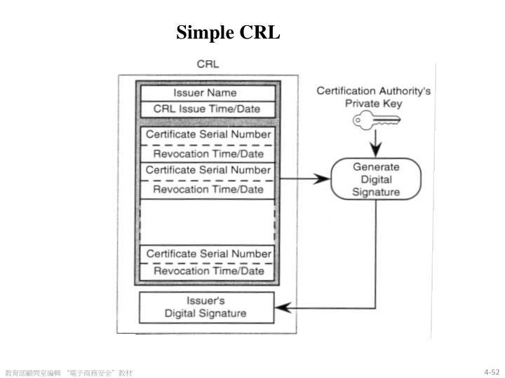 Simple CRL