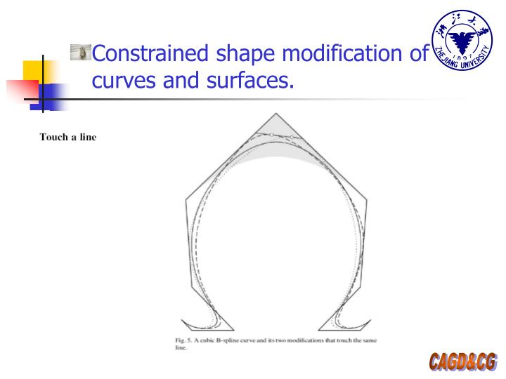Constrained shape modification of