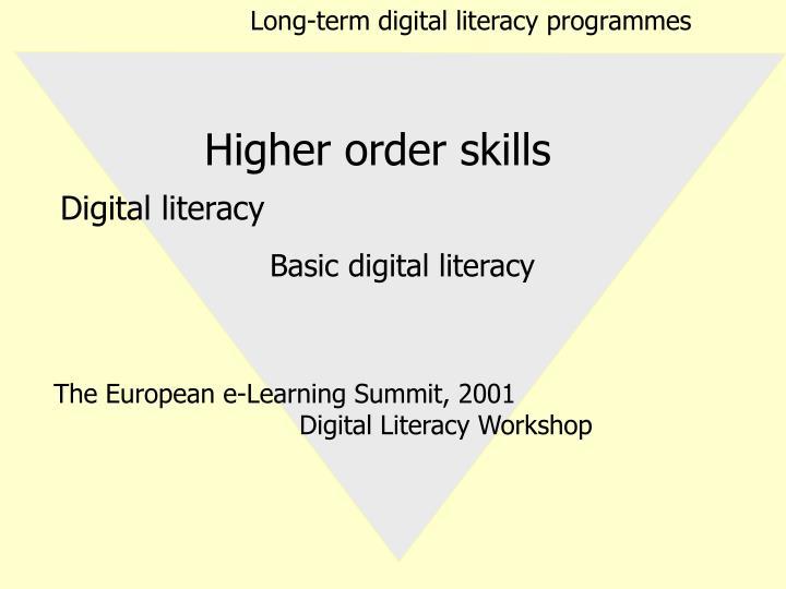 Long-term digital literacy programmes