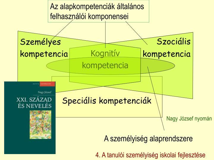 Az alapkompetenciák általános felhasználói komponensei