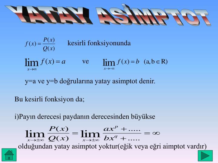 YATAY ASİMPTOT