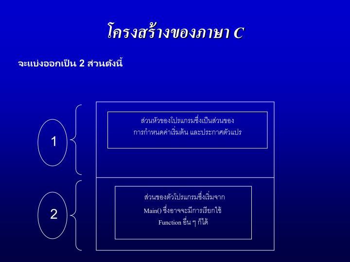 โครงสร้างของภาษา C