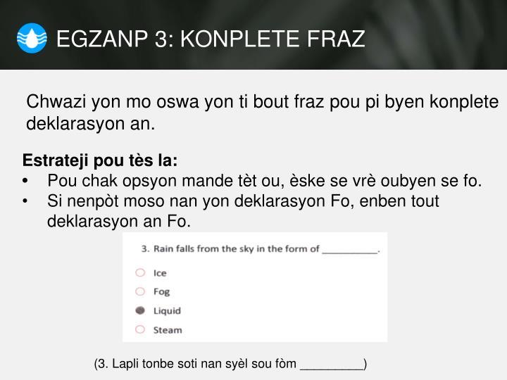 EGZANP 3: KONPLETE FRAZ