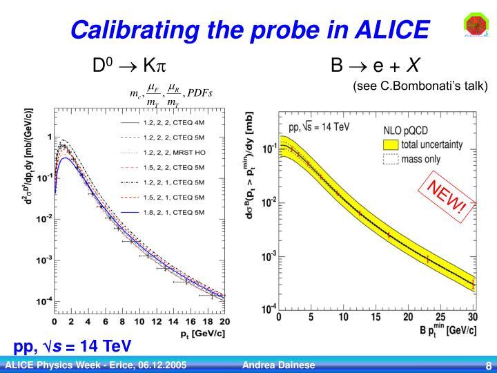 Calibrating the probe in ALICE