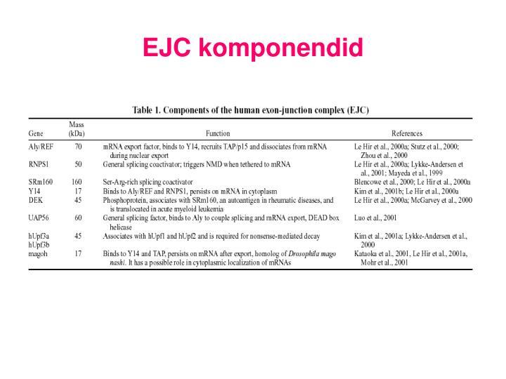 EJC komponendid