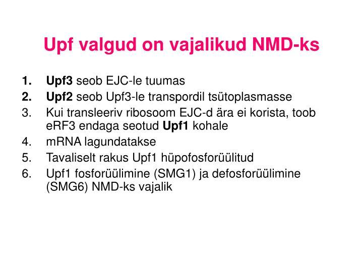 Upf valgud on vajalikud NMD-ks