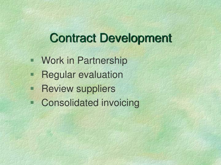 Contract Development