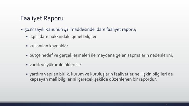 Faaliyet Raporu