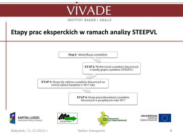 Etapy prac eksperckich w ramach analizy STEEPVL