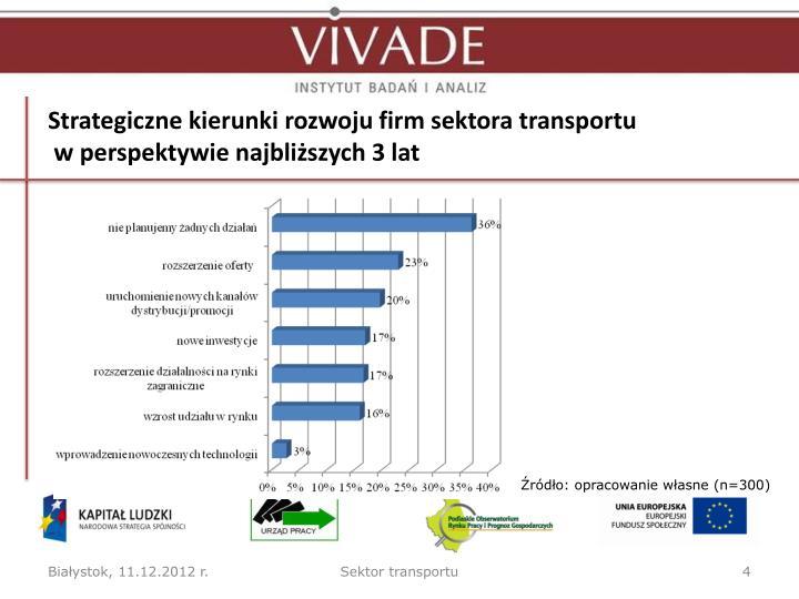 Strategiczne kierunki rozwoju firm sektora transportu