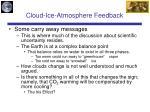 cloud ice atmosphere feedback