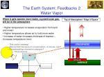 the earth system feedbacks 2 water vapor