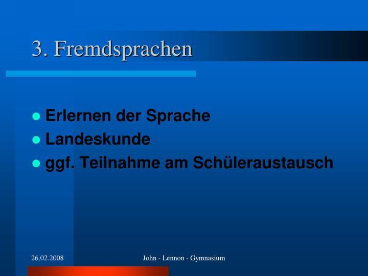 3. Fremdsprachen
