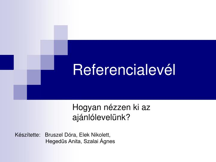 Referencialev l