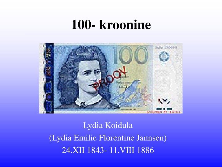 100- kroonine