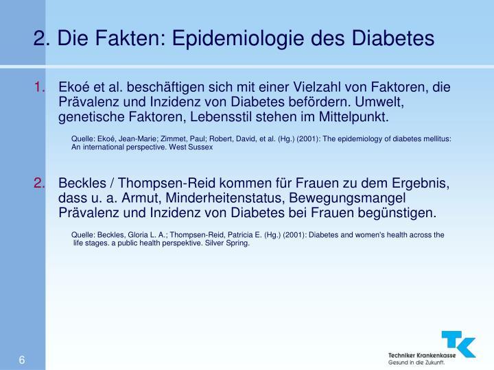 2. Die Fakten: Epidemiologie des Diabetes