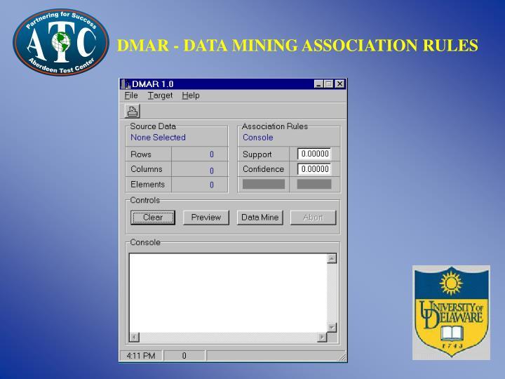 DMAR - DATA MINING ASSOCIATION RULES