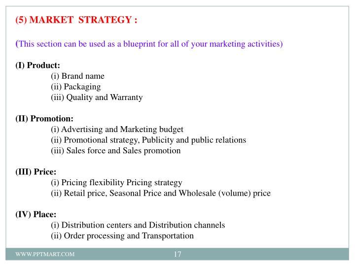 (5) MARKET  STRATEGY :