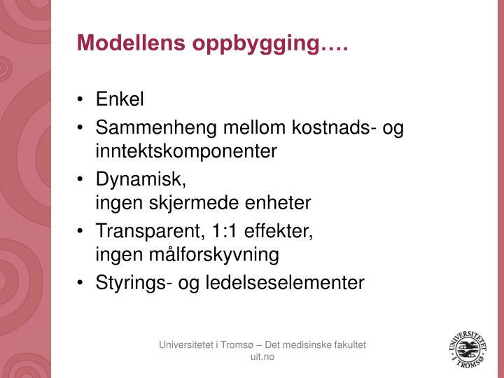 Modellens oppbygging….