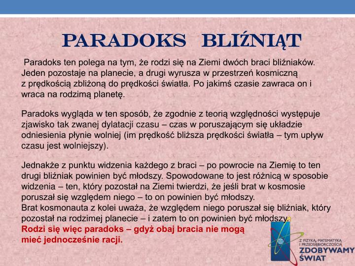 PARADOKS   bliźniąt