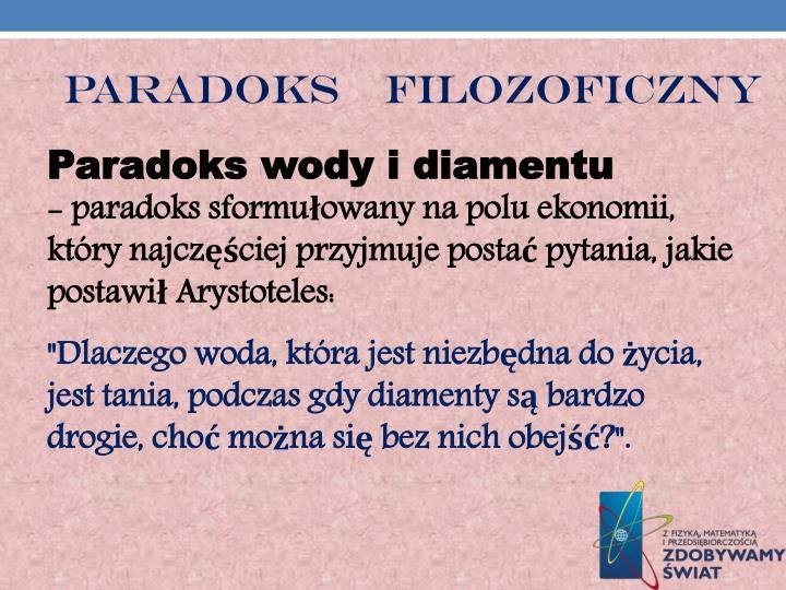 PARADOKS    FILOZOFICZNY