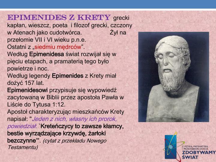 Epimenides z Krety