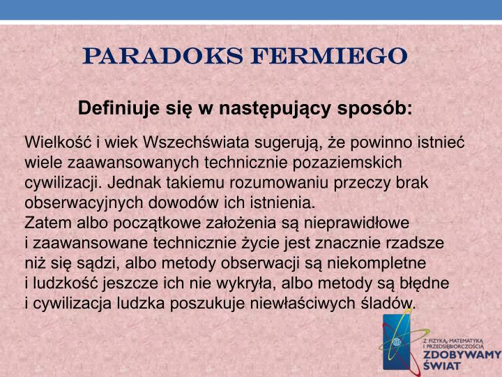 Paradoks Fermiego