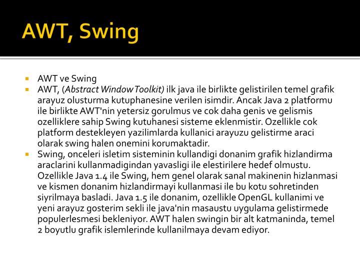 AWT, Swing