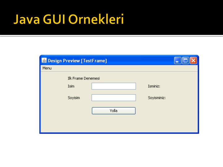 Java GUI Ornekleri