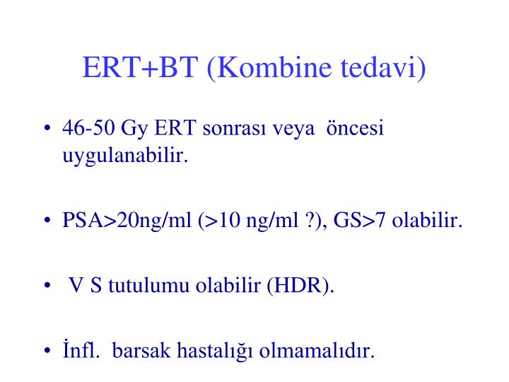 ERT+BT (Kombine tedavi)