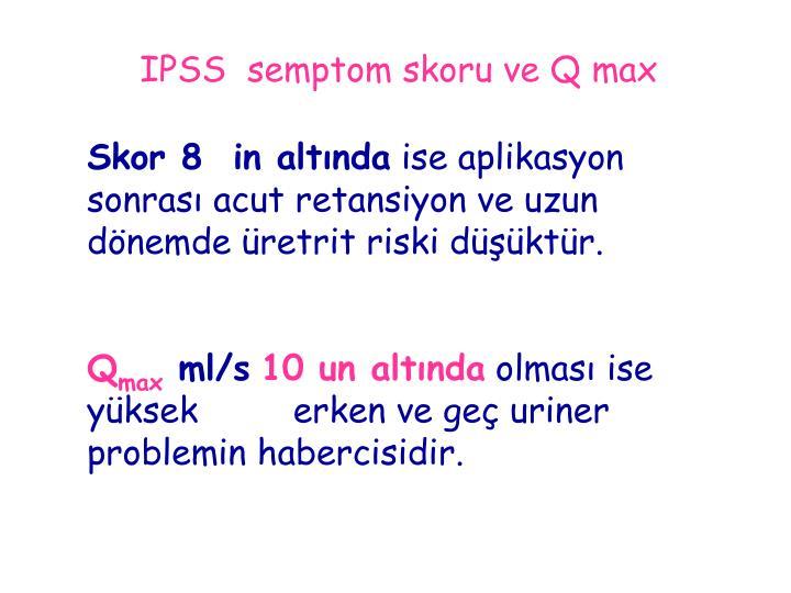 IPSS  semptom skoru