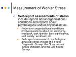 measurement of worker stress1